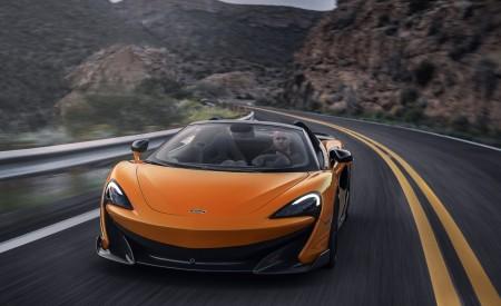2020 McLaren 600LT Spider (Color: Myan Orange) Front Three-Quarter Wallpaper 450x275 (40)