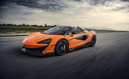 2020 McLaren 600LT Spider (Color: Myan Orange) Front Three-Quarter Wallpaper 450x275 (30)