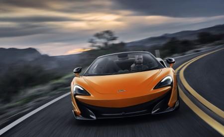 2020 McLaren 600LT Spider (Color: Myan Orange) Front Wallpaper 450x275 (41)