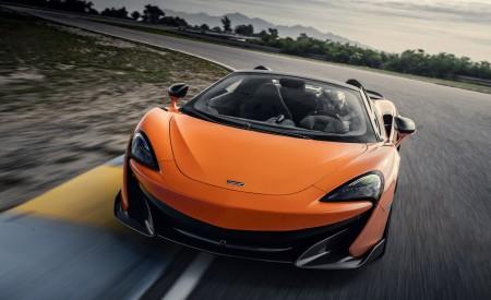 2020 McLaren 600LT Spider (Color: Myan Orange) Front Wallpaper 450x275 (31)
