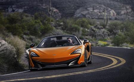 2020 McLaren 600LT Spider (Color: Myan Orange) Front Wallpaper 450x275 (42)