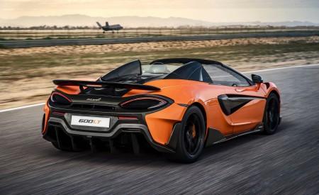 2020 McLaren 600LT Spider (Color: Myan Orange) Rear Three-Quarter Wallpaper 450x275 (34)