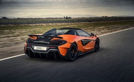 2020 McLaren 600LT Spider (Color: Myan Orange) Rear Three-Quarter Wallpaper 450x275 (35)