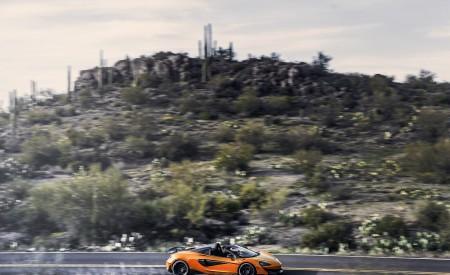 2020 McLaren 600LT Spider (Color: Myan Orange) Side Wallpaper 450x275 (37)