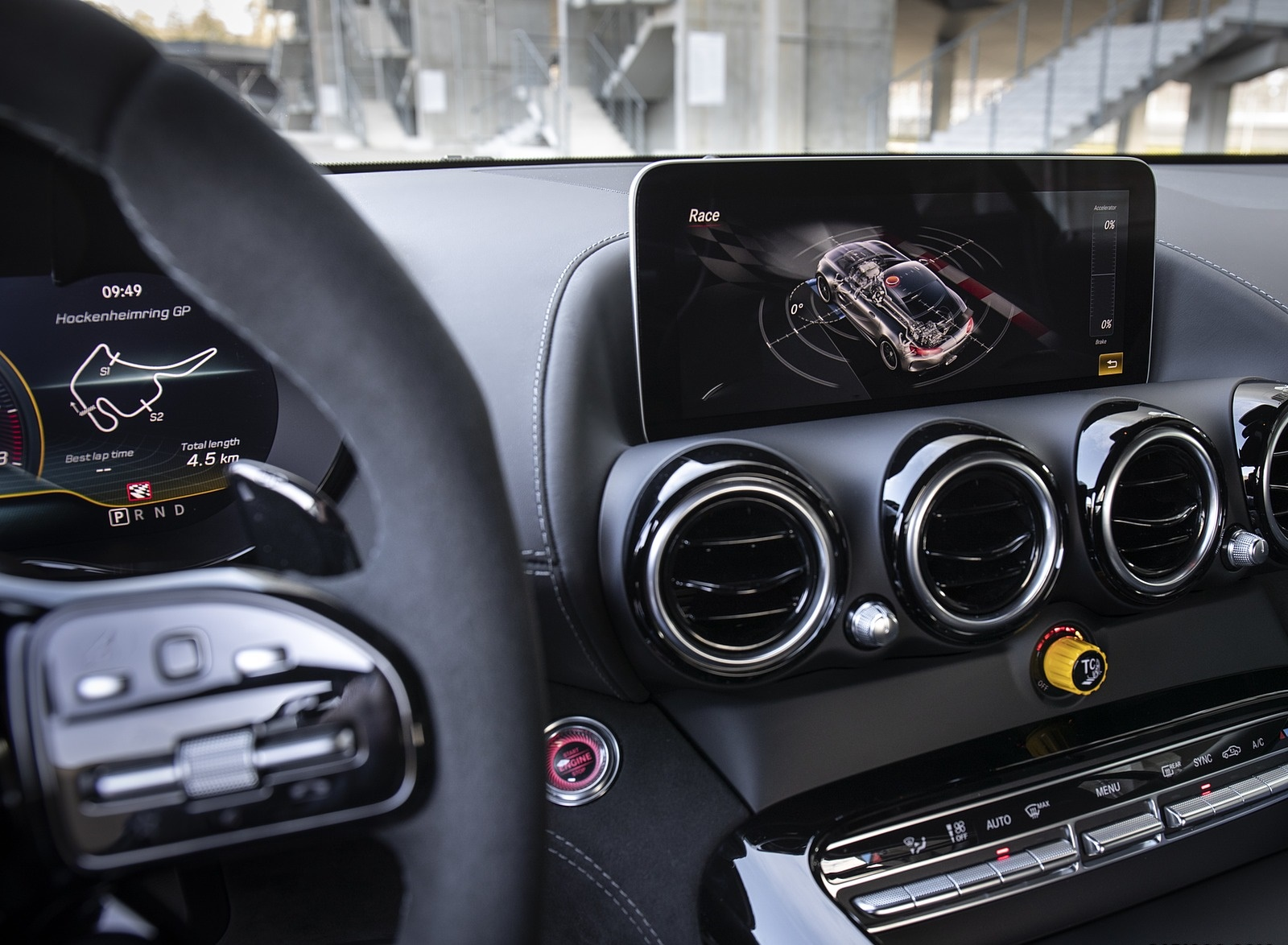 2020 Mercedes-AMG GT R Pro Central Console Wallpaper (15)