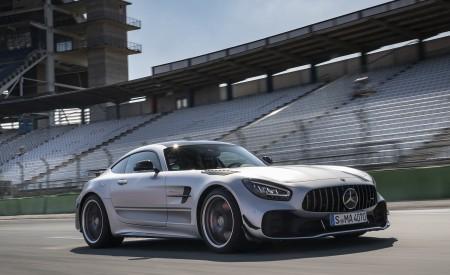 2020 Mercedes-AMG GT R Pro (Color: Designo Iridium Silver magno) Front Three-Quarter Wallpaper 450x275 (3)