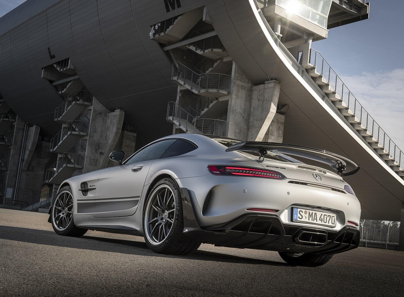 2020 Mercedes-AMG GT R Pro (Color: Designo Iridium Silver magno) Rear Three-Quarter Wallpapers (7)