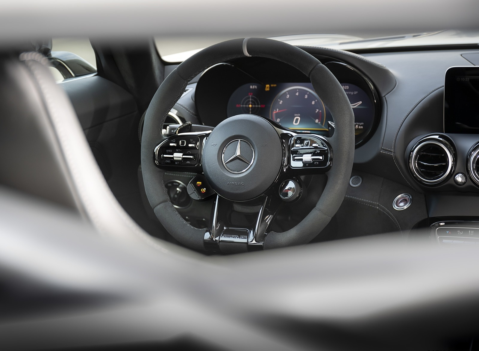 2020 Mercedes-AMG GT R Pro Interior Steering Wheel Wallpaper (13)