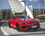 2020 Mercedes-Benz CLA 250 4MATIC Coupe AMG Line (Color: Jupiter Red) Front Three-Quarter Wallpapers 150x120 (8)