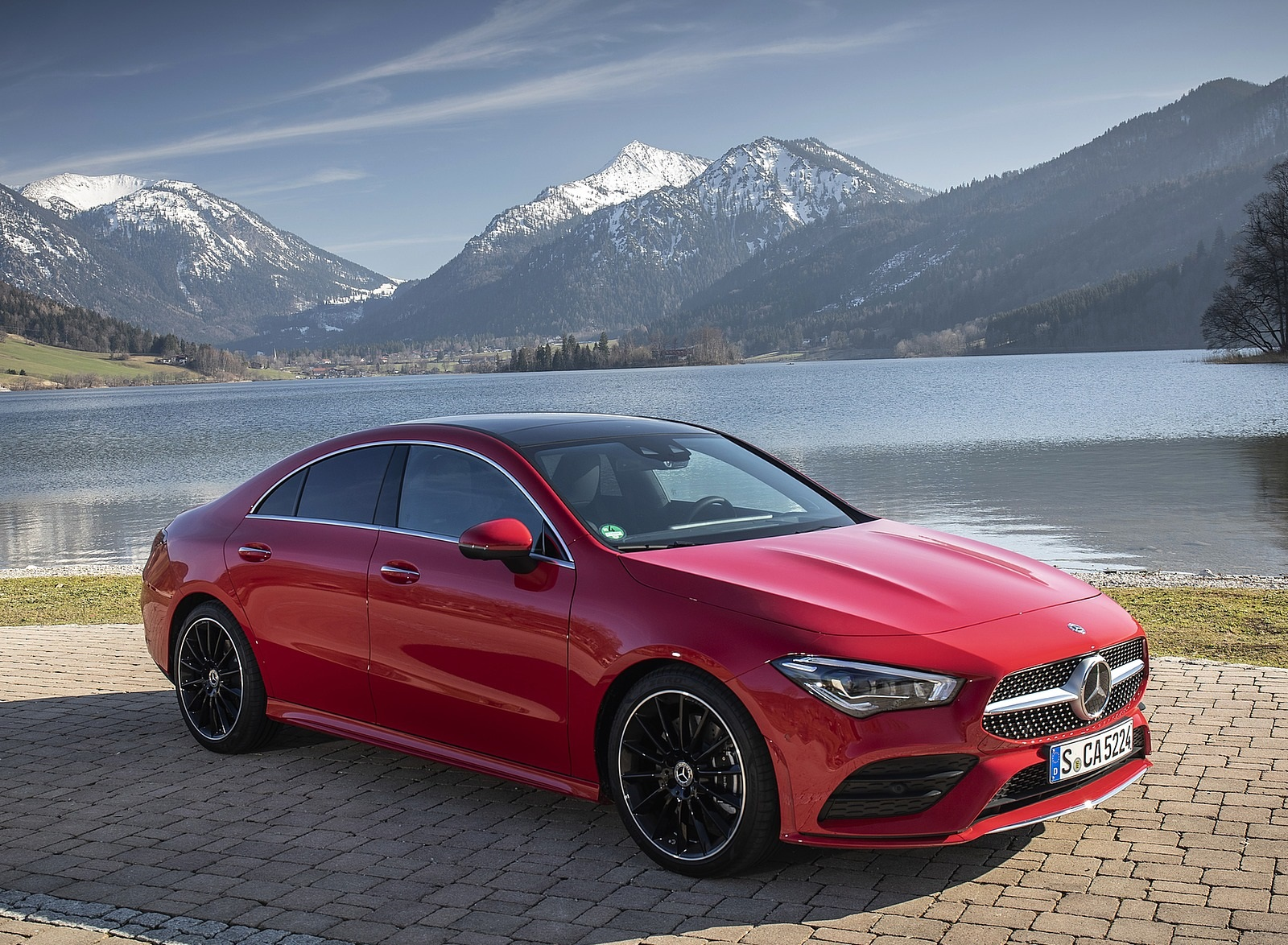 2020 Mercedes-Benz CLA 250 4MATIC Coupe AMG Line (Color: Jupiter Red) Front Three-Quarter Wallpapers (9)