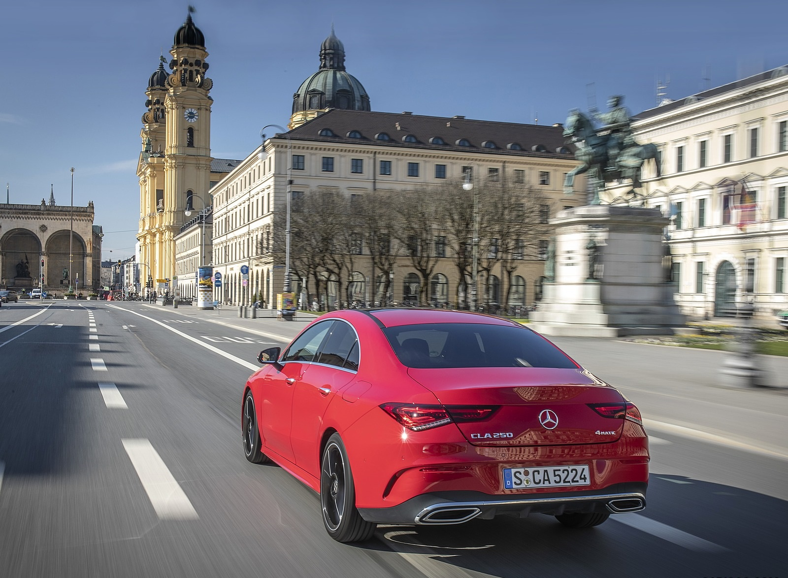 2020 Mercedes-Benz CLA 250 4MATIC Coupe AMG Line (Color: Jupiter Red) Rear Three-Quarter Wallpapers (6)