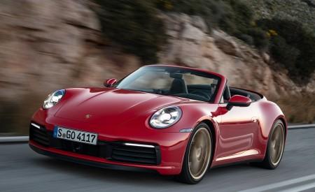 2020 Porsche 911 Carrera 4S Cabriolet (Color: India Red) Front Three-Quarter Wallpaper 450x275 (55)