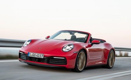 2020 Porsche 911 Carrera 4S Cabriolet (Color: India Red) Front Three-Quarter Wallpaper 450x275 (47)