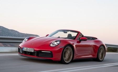 2020 Porsche 911 Carrera 4S Cabriolet (Color: India Red) Front Three-Quarter Wallpaper 450x275 (62)