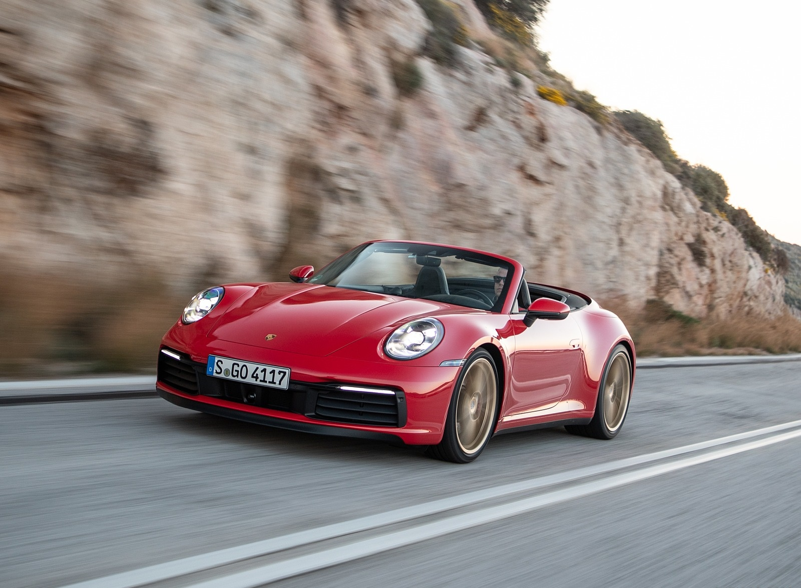 2020 Porsche 911 Carrera 4s Cabriolet Color India Red Front Three Quarter Wallpapers 50 Newcarcars