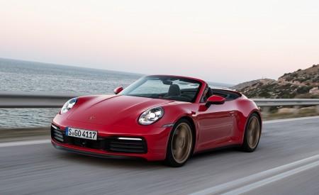 2020 Porsche 911 Carrera 4S Cabriolet (Color: India Red) Front Three-Quarter Wallpaper 450x275 (65)