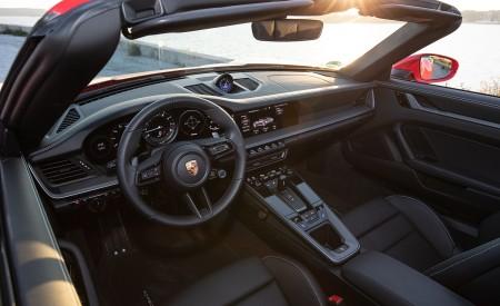 2020 Porsche 911 Carrera 4S Cabriolet (Color: India Red) Interior Wallpaper 450x275 (76)
