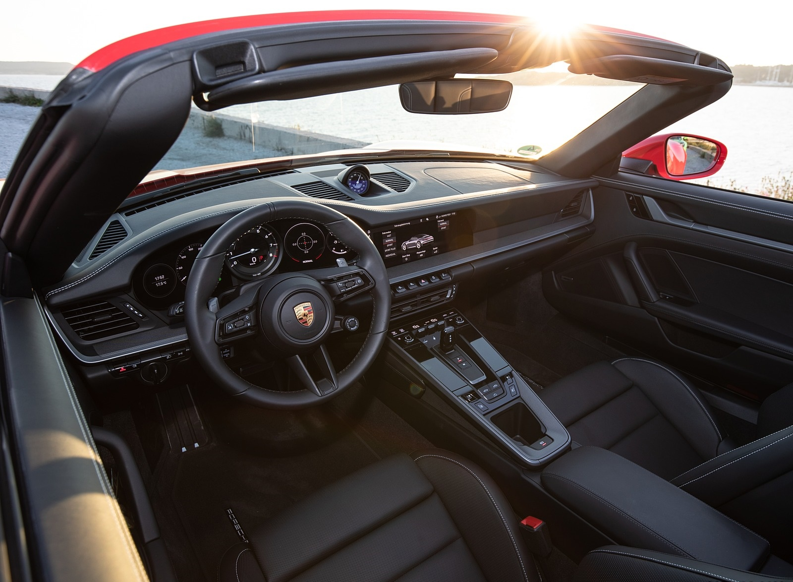 2020 Porsche 911 Carrera 4s Cabriolet Color India Red Interior Wallpapers 76 Newcarcars