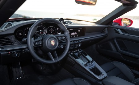2020 Porsche 911 Carrera 4S Cabriolet (Color: India Red) Interior Wallpaper 450x275 (77)