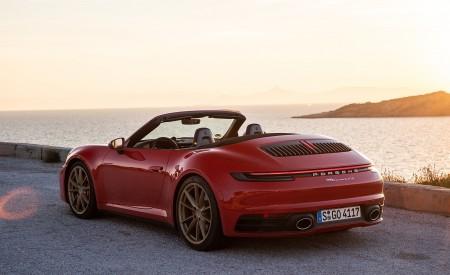 2020 Porsche 911 Carrera 4S Cabriolet (Color: India Red) Rear Three-Quarter Wallpaper 450x275 (70)