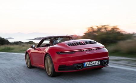 2020 Porsche 911 Carrera 4S Cabriolet (Color: India Red) Rear Three-Quarter Wallpaper 450x275 (71)