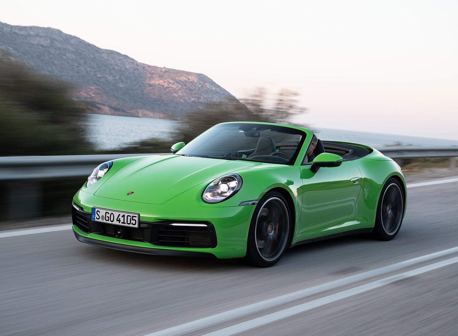 2020 Porsche 911 Carrera S Cabriolet (Color: Lizard Green) Front Three-Quarter Wallpapers (1)
