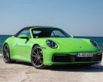 2020 Porsche 911 Carrera S Cabriolet (Color: Lizard Green) Front Three-Quarter Wallpapers 150x120 (18)