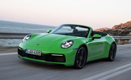 2020 Porsche 911 Carrera S Cabriolet (Color: Lizard Green) Front Three-Quarter Wallpaper 450x275 (2)