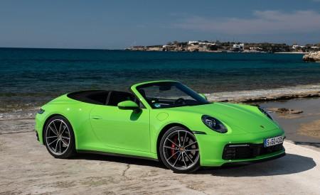 2020 Porsche 911 Carrera S Cabriolet (Color: Lizard Green) Front Three-Quarter Wallpaper 450x275 (19)