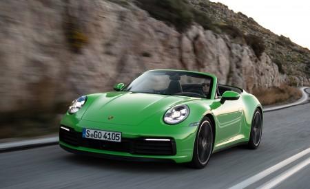 2020 Porsche 911 Carrera S Cabriolet (Color: Lizard Green) Front Three-Quarter Wallpaper 450x275 (7)