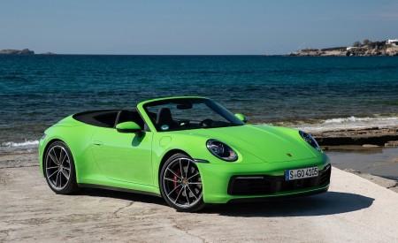 2020 Porsche 911 Carrera S Cabriolet (Color: Lizard Green) Front Three-Quarter Wallpaper 450x275 (22)