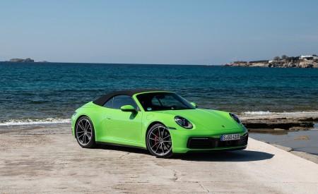 2020 Porsche 911 Carrera S Cabriolet (Color: Lizard Green) Front Three-Quarter Wallpaper 450x275 (20)