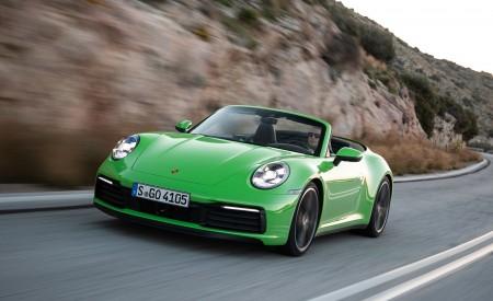 2020 Porsche 911 Carrera S Cabriolet (Color: Lizard Green) Front Three-Quarter Wallpaper 450x275 (8)