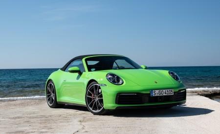 2020 Porsche 911 Carrera S Cabriolet (Color: Lizard Green) Front Three-Quarter Wallpaper 450x275 (21)