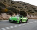2020 Porsche 911 Carrera S Cabriolet (Color: Lizard Green) Front Three-Quarter Wallpapers 150x120 (9)