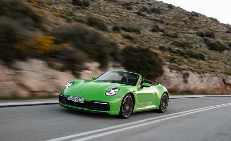 2020 Porsche 911 Carrera S Cabriolet (Color: Lizard Green) Front Three-Quarter Wallpaper 450x275 (9)