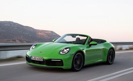 2020 Porsche 911 Carrera S Cabriolet (Color: Lizard Green) Front Three-Quarter Wallpaper 450x275 (3)