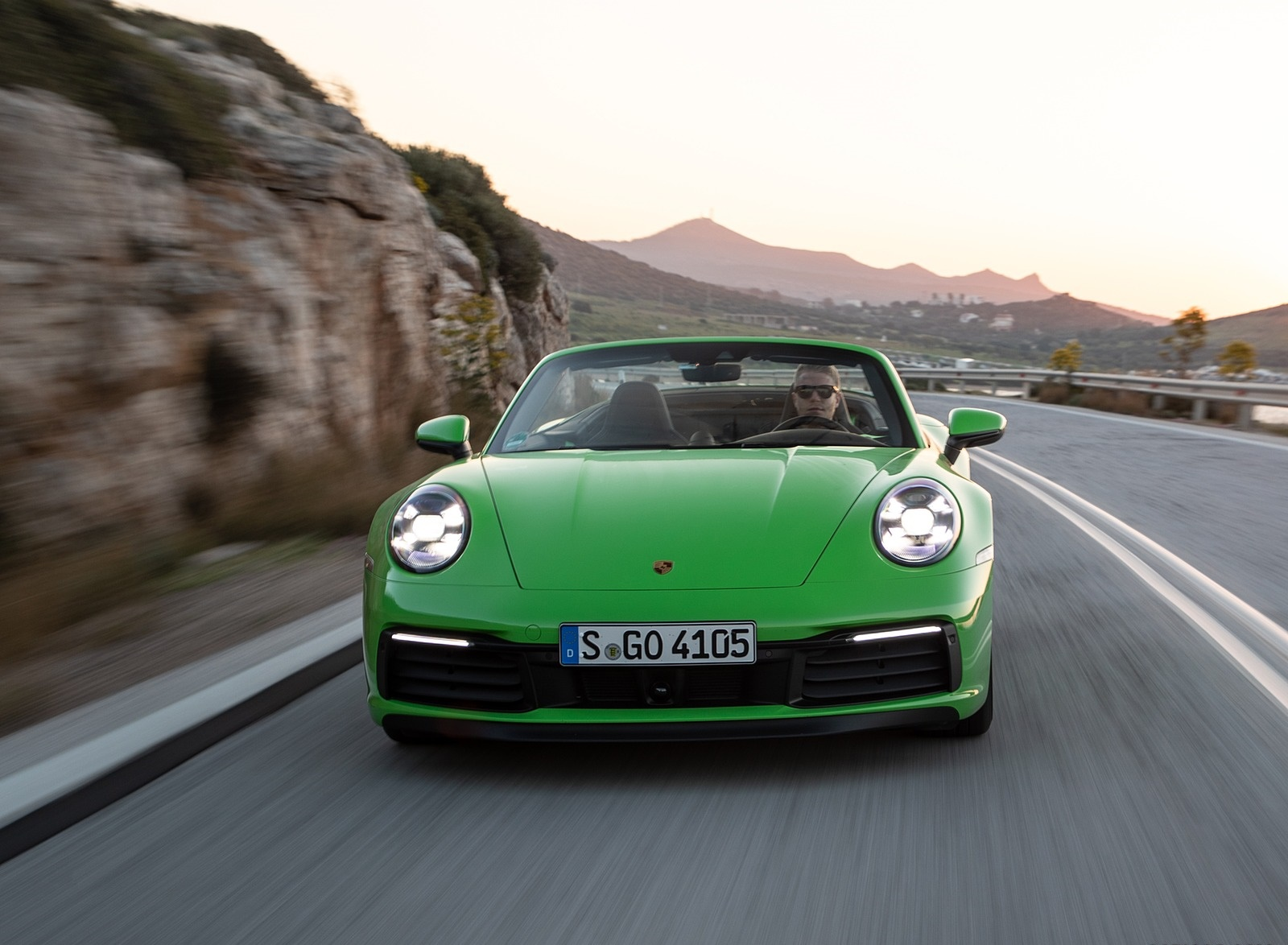 2020 Porsche 911 Carrera S Cabriolet (Color: Lizard Green) Front Wallpapers (10)