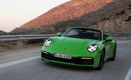 2020 Porsche 911 Carrera S Cabriolet (Color: Lizard Green) Front Wallpaper 450x275 (11)