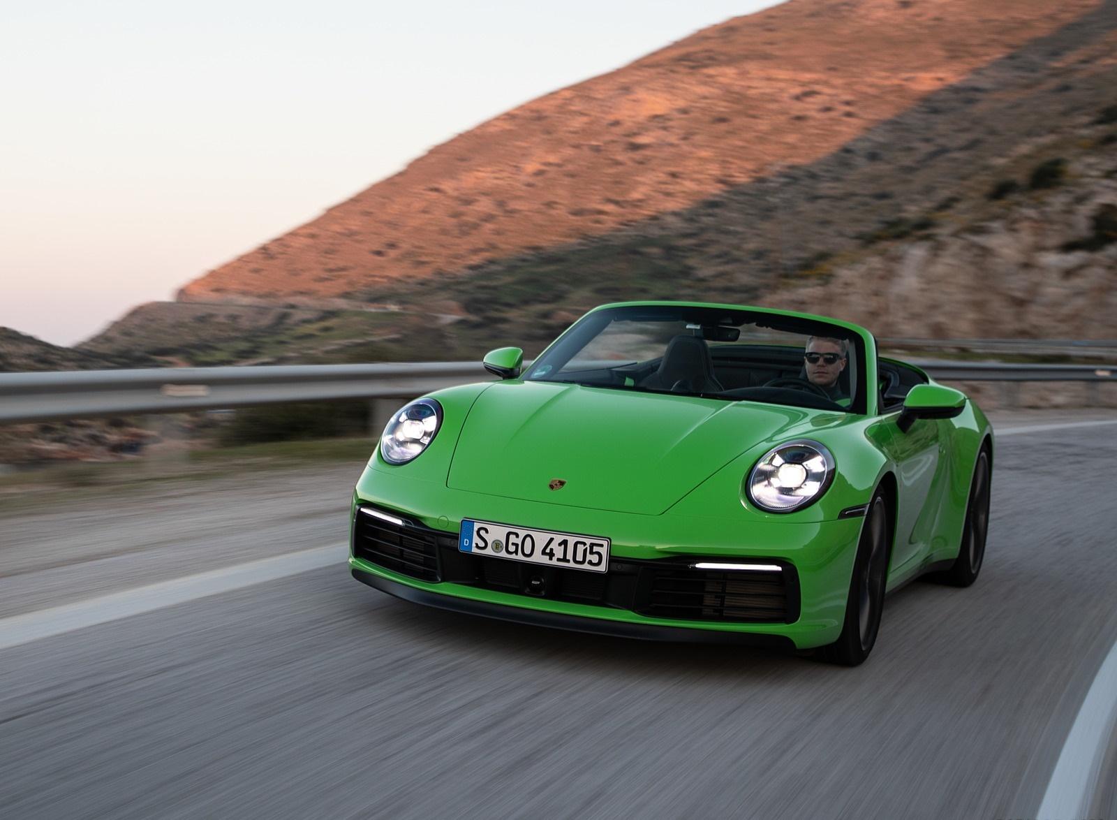 2020 Porsche 911 Carrera S Cabriolet (Color: Lizard Green) Front Wallpapers (11)