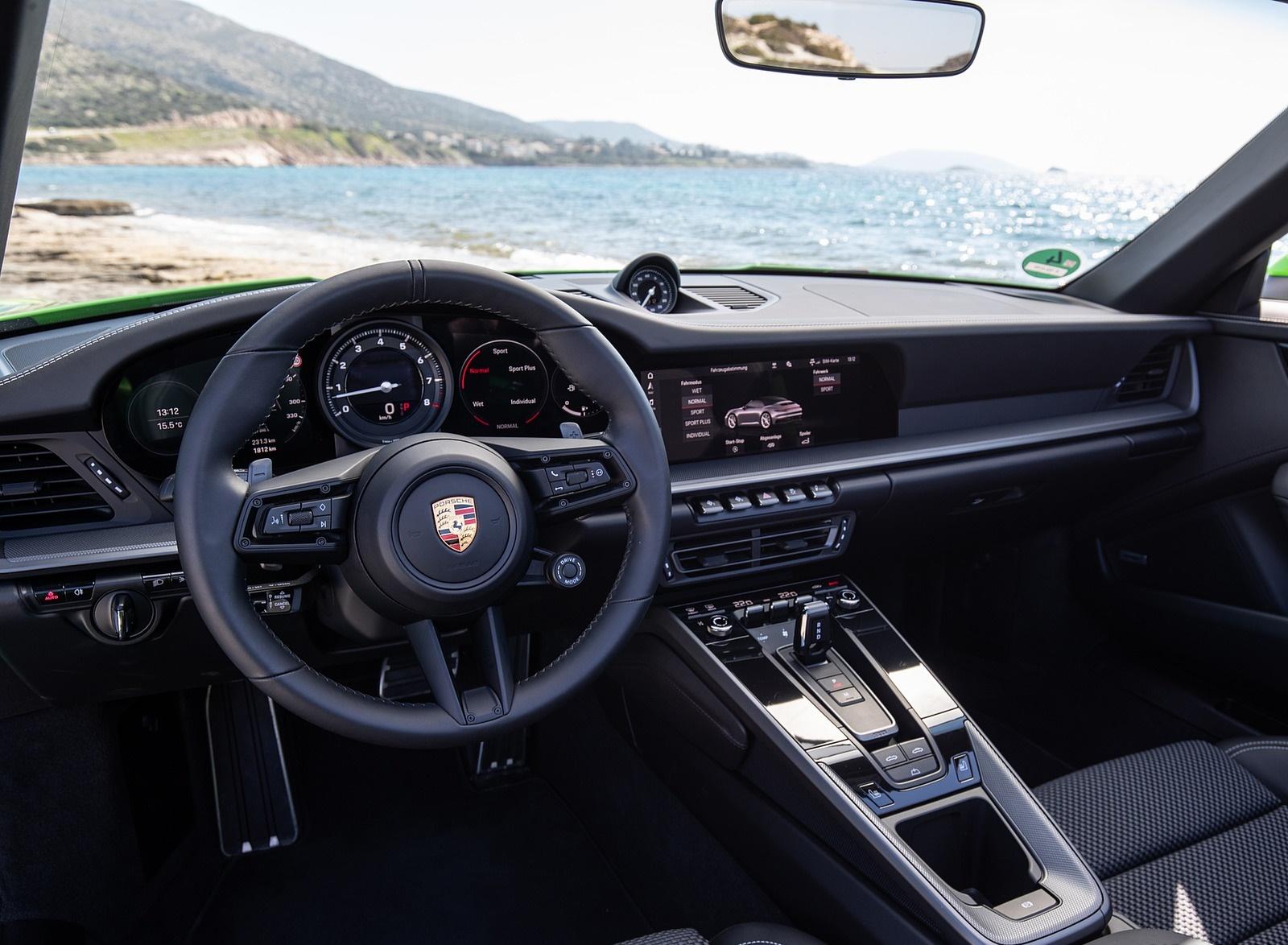 2020 Porsche 911 Carrera S Cabriolet Color Lizard Green Interior Cockpit Wallpapers 45 Newcarcars