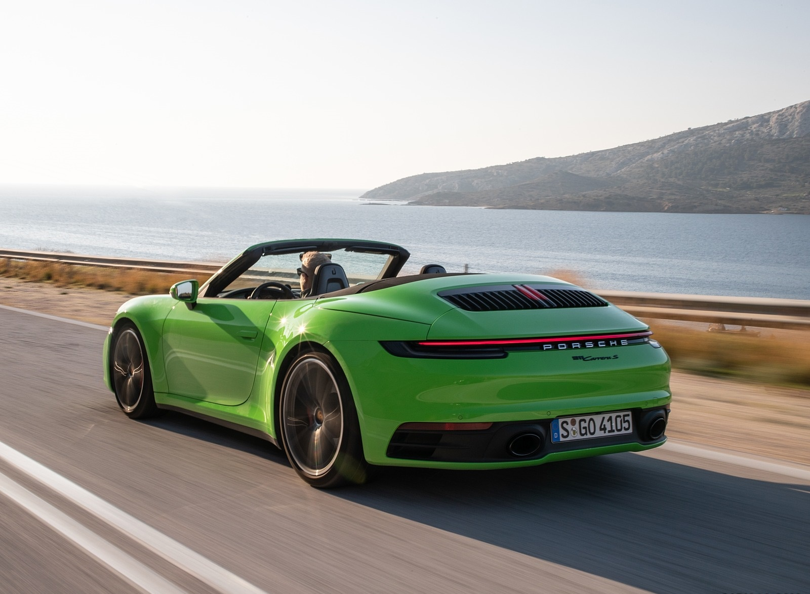 2020 Porsche 911 Carrera S Cabriolet Color Lizard Green Rear Three Quarter Wallpapers 4 Newcarcars