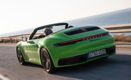 2020 Porsche 911 Carrera S Cabriolet (Color: Lizard Green) Rear Three-Quarter Wallpaper 450x275 (5)