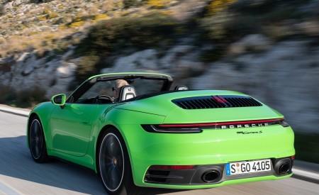 2020 Porsche 911 Carrera S Cabriolet (Color: Lizard Green) Rear Three-Quarter Wallpaper 450x275 (13)