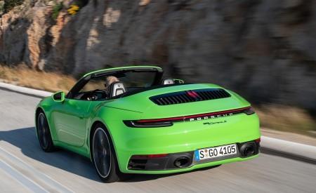 2020 Porsche 911 Carrera S Cabriolet (Color: Lizard Green) Rear Three-Quarter Wallpaper 450x275 (14)