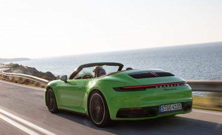 2020 Porsche 911 Carrera S Cabriolet (Color: Lizard Green) Rear Three-Quarter Wallpaper 450x275 (6)