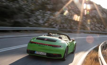 2020 Porsche 911 Carrera S Cabriolet (Color: Lizard Green) Rear Wallpaper 450x275 (15)