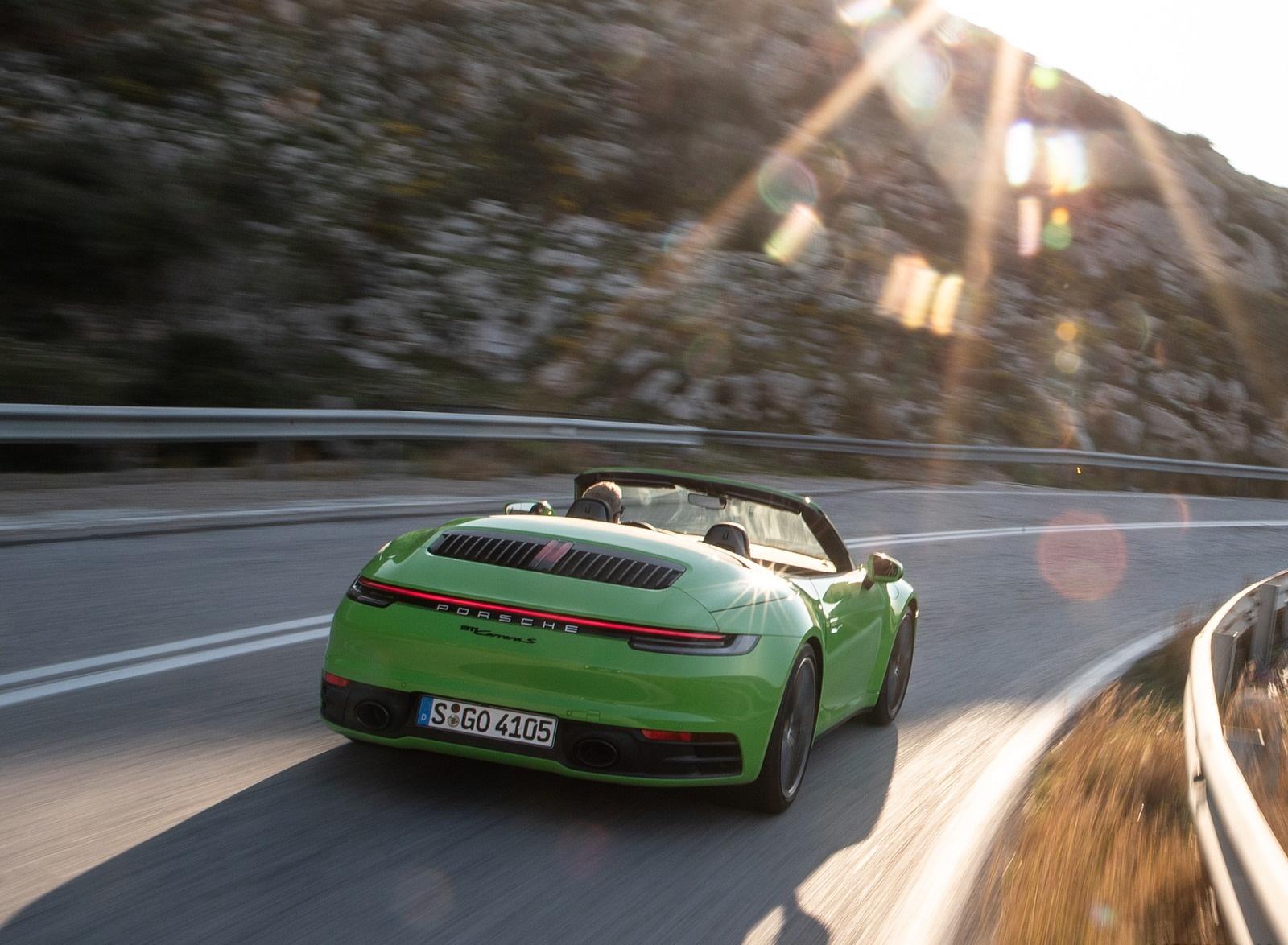 2020 Porsche 911 Carrera S Cabriolet (Color: Lizard Green) Rear Wallpapers (15)