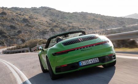 2020 Porsche 911 Carrera S Cabriolet (Color: Lizard Green) Rear Wallpaper 450x275 (16)