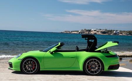 2020 Porsche 911 Carrera S Cabriolet (Color: Lizard Green) Side Wallpaper 450x275 (25)